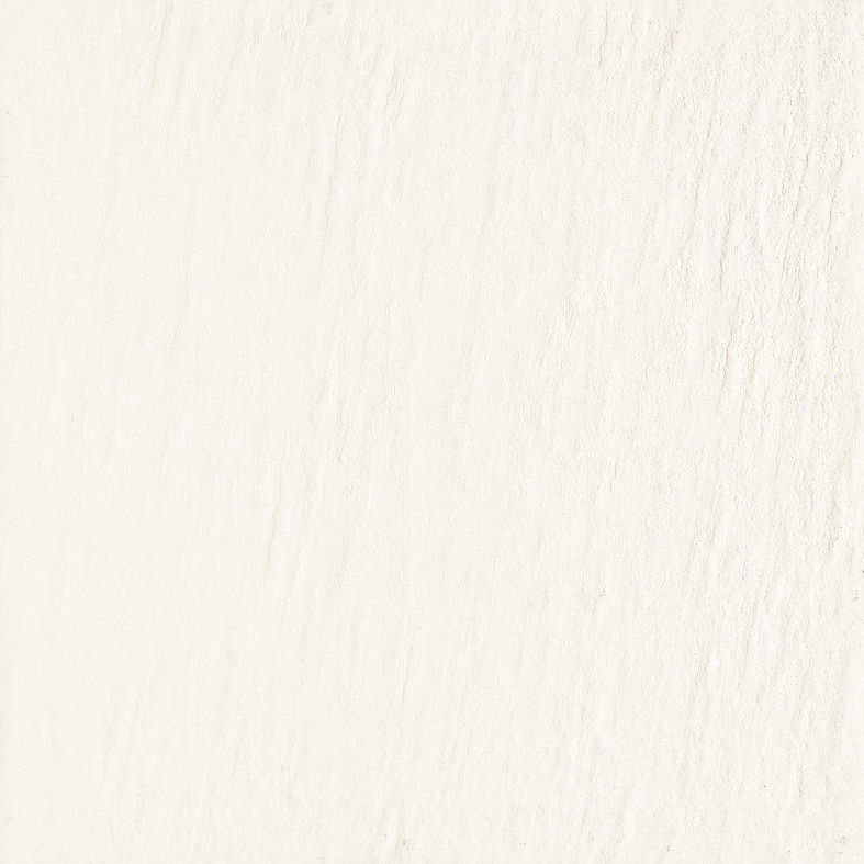10MM Thickness  Full Body Porcelain Tile Rustic Floor Wall   Pure Color White / Black 600x600